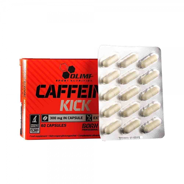 Capsule cafeina, Caffeine Kick, Olimp, 60 caps 2