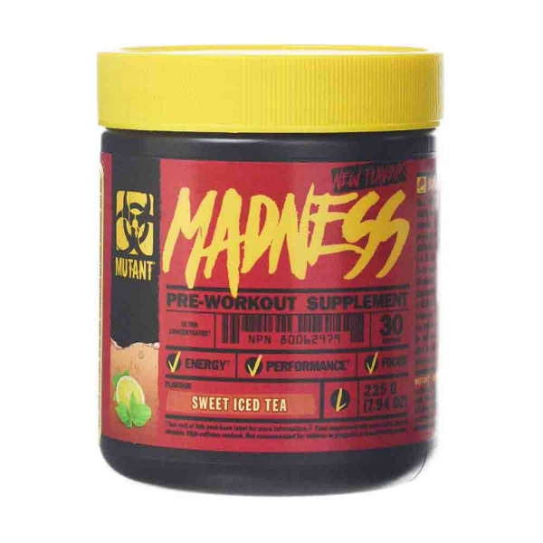 Madness Pre-workout, Mutant, 225g, 30 serviri